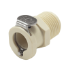 """3/8"""" MNPT PLC Series Polypropylene Body - Straight Thru (Insert Sold Separately)"""