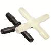"1/16"" Tube ID Black Nylon Cross"