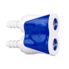 "1/4"" White Valved Hosebarb In-line Coupling Body"
