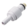 "1/4"" White Valved Hosebarb In-line Coupling Insert"