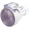 "1/4"" In-Line Hose Barb MPC Series Polycarbonate Coupling Body w/Lock (Sold Individually)"