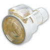 "1/4"" In-Line Hose Barb MPC Series Polysulfone Coupling Body w/Lock (Sold Individually)"