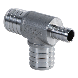 "1"" x 1/2"" x 1"" PEX Stainless Steel Reducer Tee"