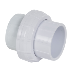 "1-1/2"" Schedule 40 White PVC Socket Union"