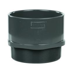 "6"" Schedule 40 Gray PVC MIPT x Socket Male Adapter"