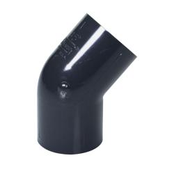 "1"" Schedule 40 Gray PVC Socket 45° Elbow"