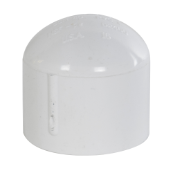"1-1/4"" Schedule 40 White PVC Socket Cap"