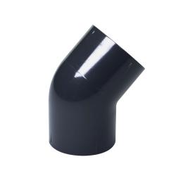 "1-1/4"" Schedule 40 Gray PVC Socket 45° Elbow"