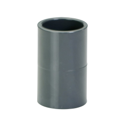 "3/4"" Schedule 40 Gray PVC Socket Coupling"