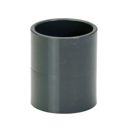 "1-1/2"" Schedule 40 Gray PVC Socket Coupling"