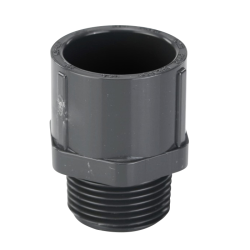 "3/4"" Schedule 40 Gray PVC MIPT x Socket Male Adapter"