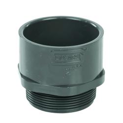 "2"" Schedule 40 Gray PVC MIPT x Socket Male Adapter"
