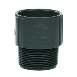 "2-1/2"" Schedule 40 Gray PVC MIPT x Socket Male Adapter"