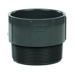"4"" Schedule 40 Gray PVC MIPT x Socket Male Adapter"
