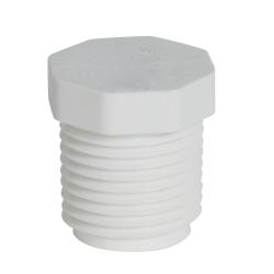 "1/2"" Schedule 40 White PVC Threaded Plug"