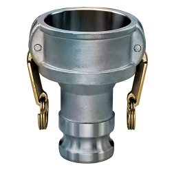Kuriyama-Couplings™ Aluminum Reducing Coupler x Male Adapter