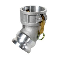 Kuriyama-Couplings™ Aluminum 45° Elbow Coupler x Adapter