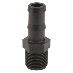 "3/4"" MNPT x 3/4"" Hose Barb Polypropylene Adapter"