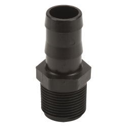 "1"" MNPT x 1"" Hose Barb Polypropylene Adapter"