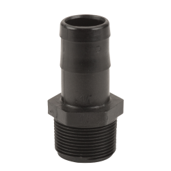 "1-1/4"" MNPT x 1-1/4"" Hose Barb Polypropylene Adapter"