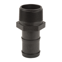 "1-1/2"" MNPT x 1-1/2"" Hose Barb Polypropylene Adapter"