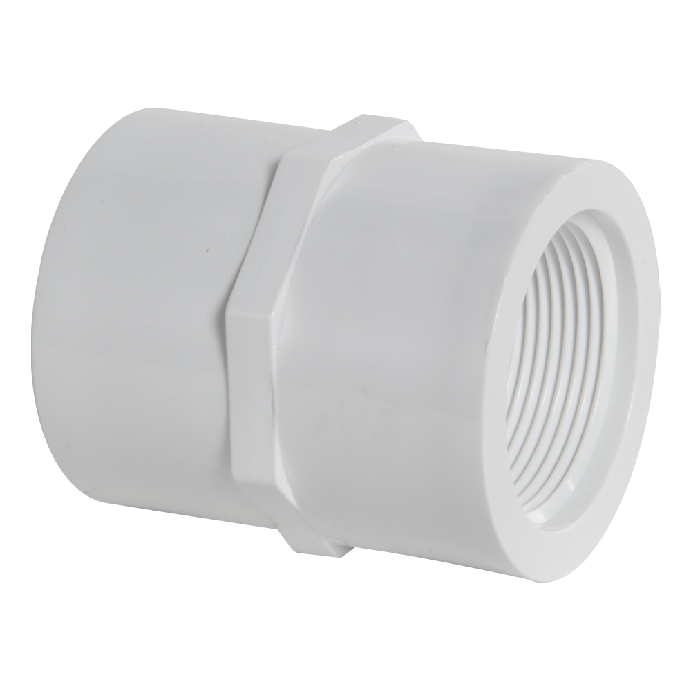 """3/4"""" PVC Schedule 40 Threaded Female Coupling"""