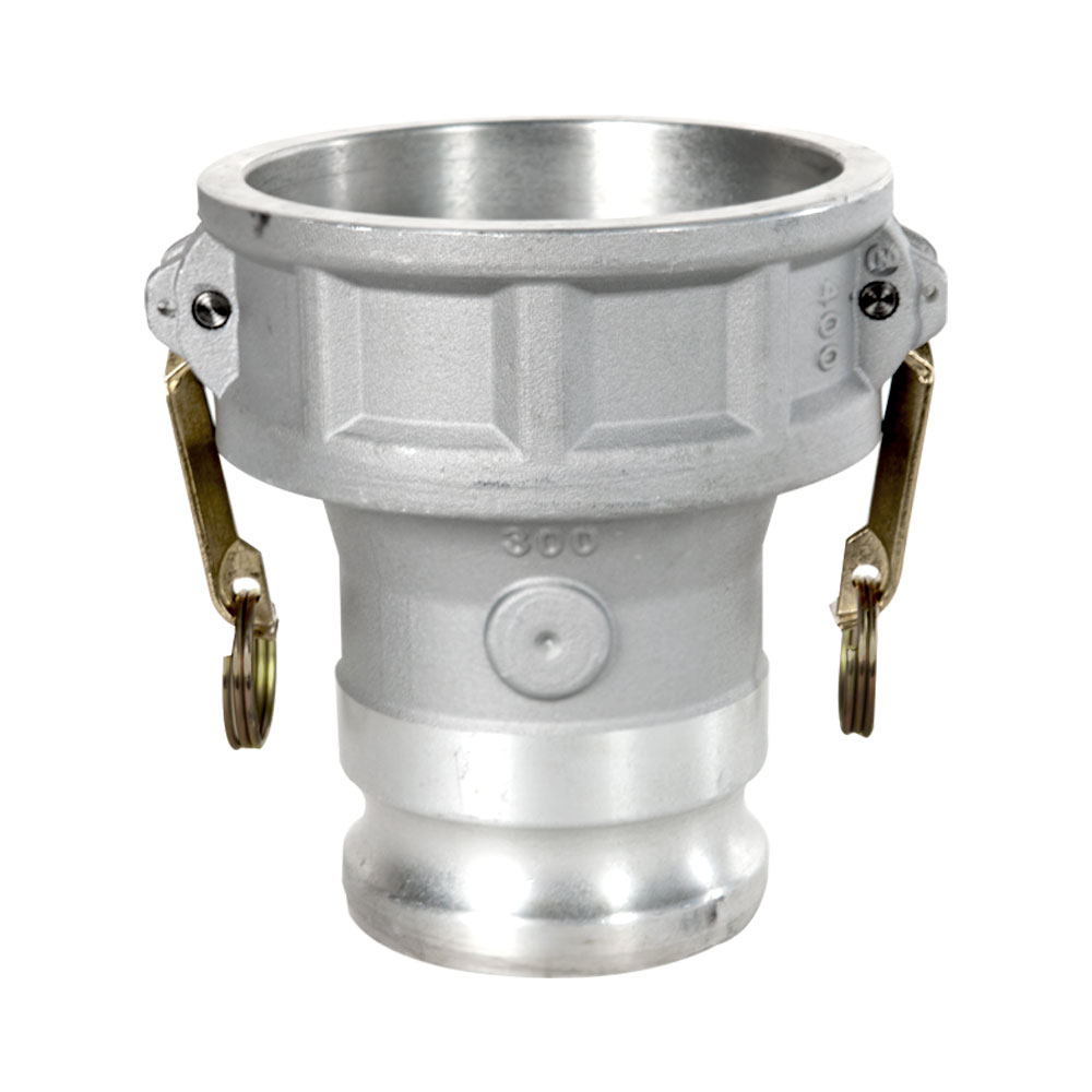 "4"" Reducing Coupler x 3"" Male Adapter Aluminum Coupling"