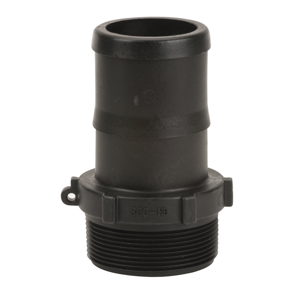 "3"" MNPT x 3"" Hose Barb Polypropylene Adapter"