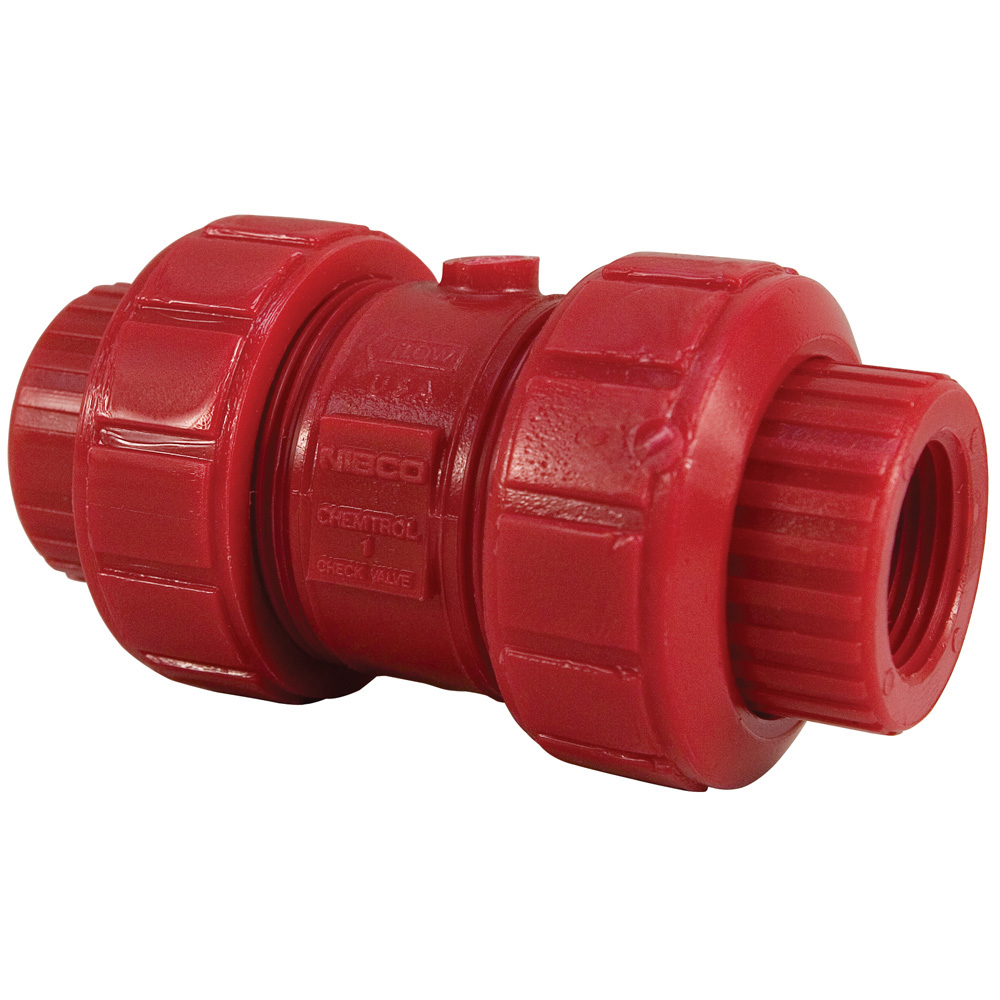 "3/4"" Chemtrol® True Union Red Kynar® PVDF Check Valves"