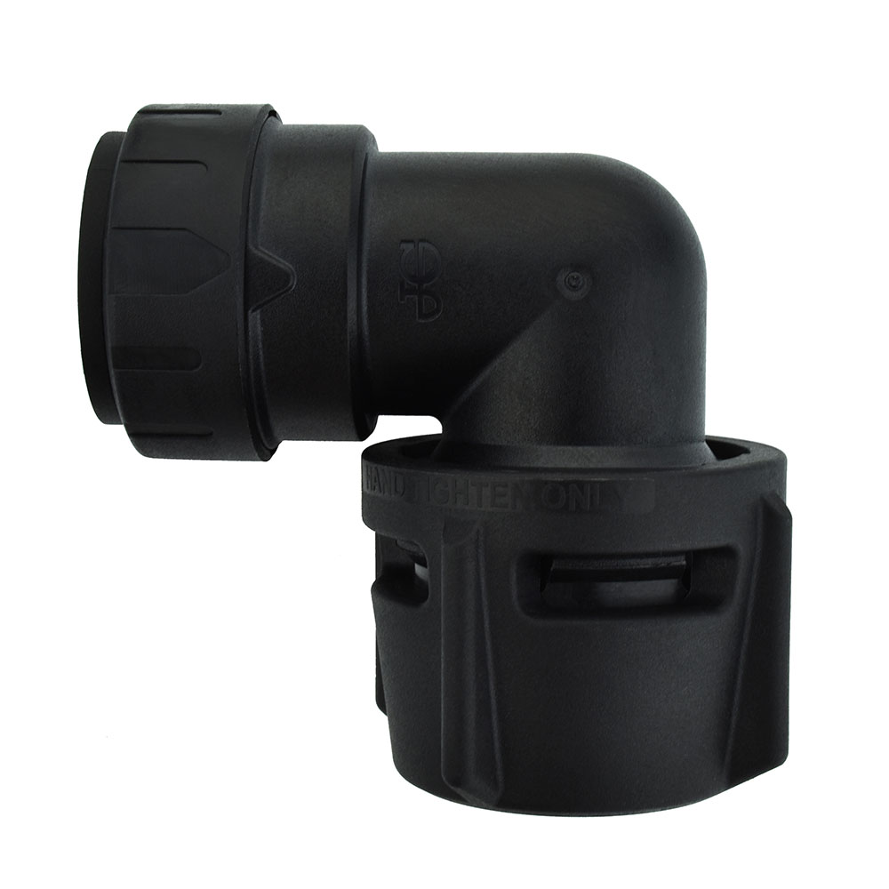John Guest® ProLock Black UV Female Elbow Connector