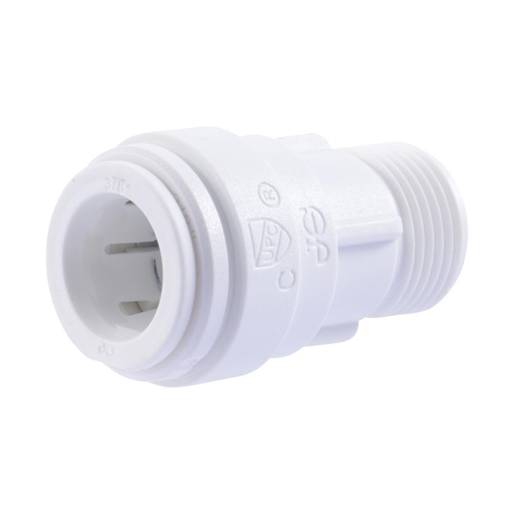 """3/8"""" OD x 3/8"""" UNEF Polysulfone Male Compression Connector"""
