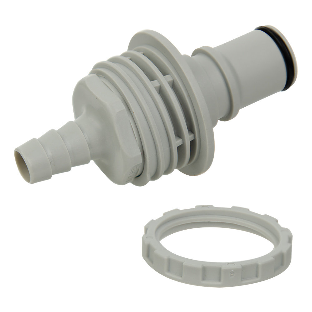 "3/8"" ID Panel Mount Polypropylene Non-Spill Hose Barb Insert (Body Sold Separately)"