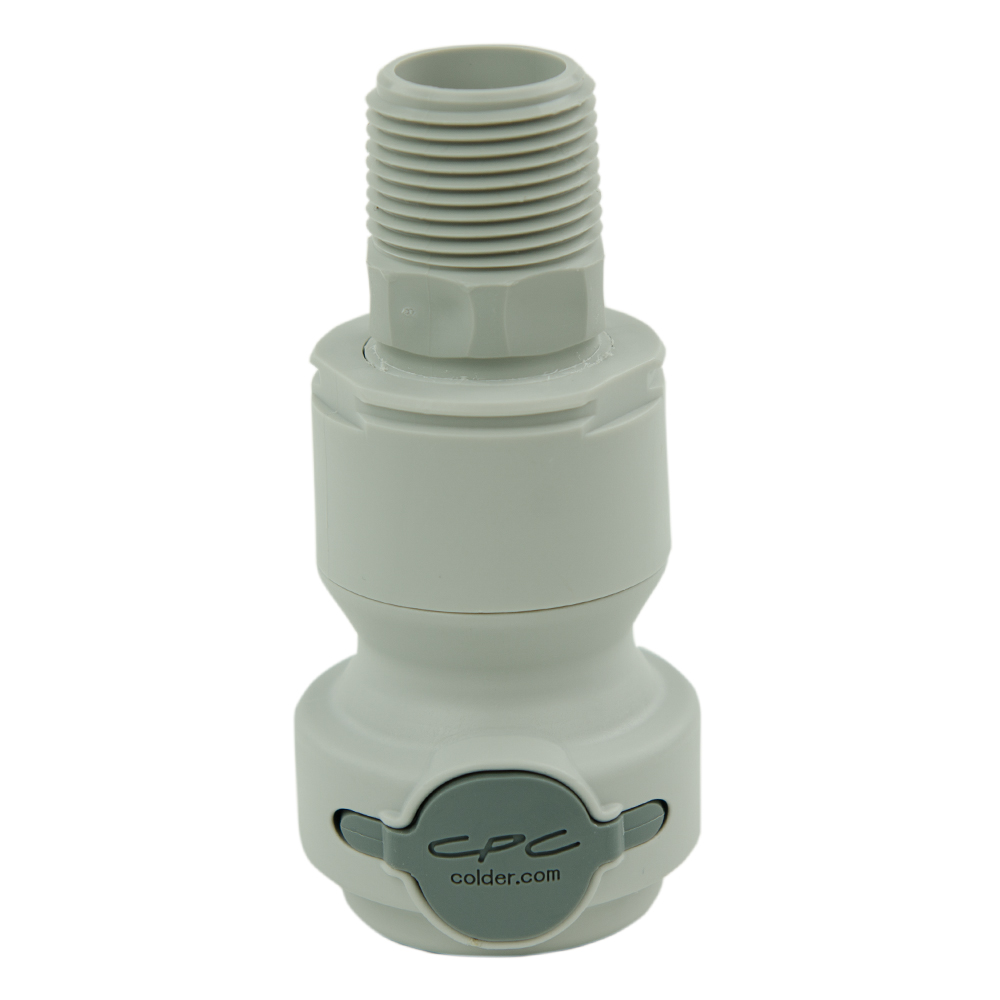 """3/4"""" NPT Valved CPC™ Pipe Thread Non-Spill Coupling Body (Insert Sold Separately)"""