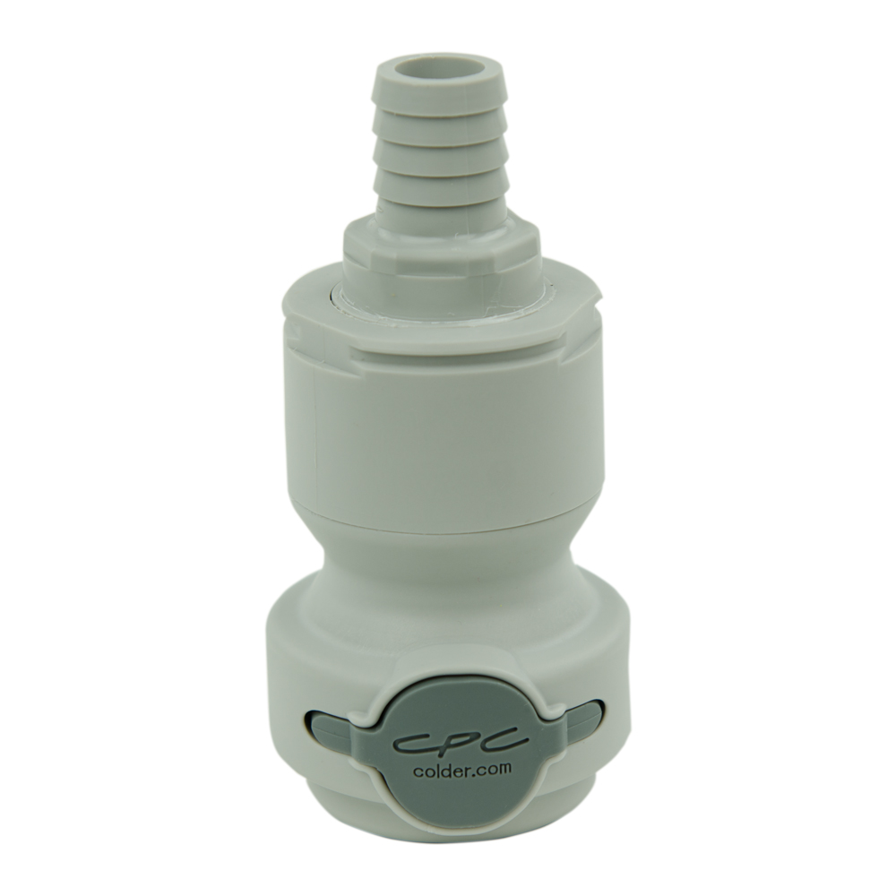 "5/8"" Hose Barb Valved In-Line CPC™ Non-Spill Coupling Body (Insert Sold Separately)"