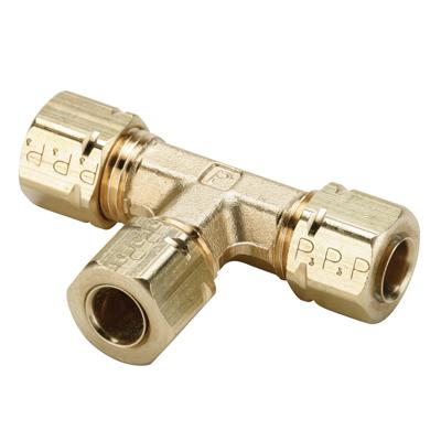 "1/8"" Tube x 1/8"" Tube x 1/8"" Tube Brass Compress-Align® Union Tee"