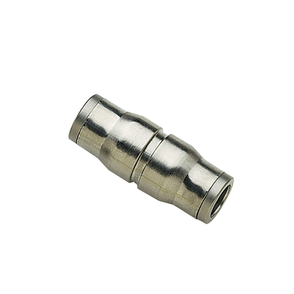 "1/2"" Tube x 1/2"" Tube Nickel-Plated Brass Straight Union"