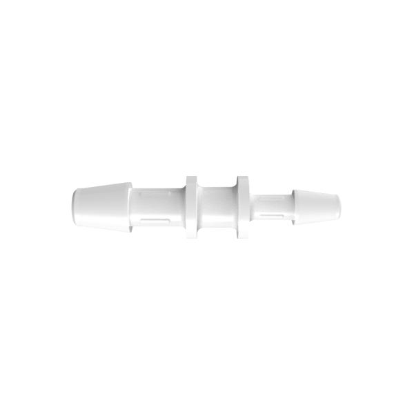 "3/16"" x 1/8"" Tube ID Natural Polypropylene Reduction Coupler"