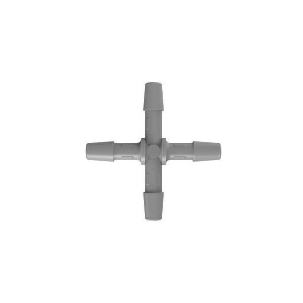 "3/8"" Gray PVDF Cross"