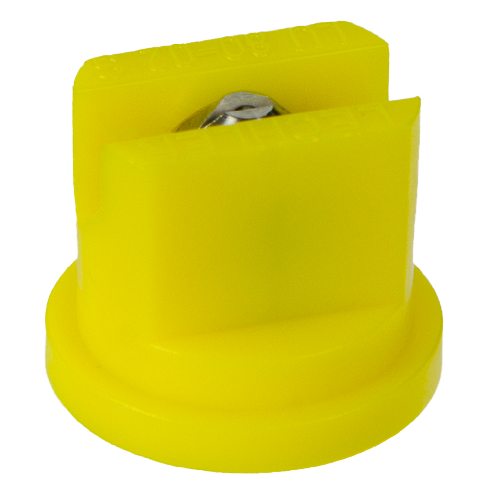 ISO Size 02 Yellow 80° Multi Range Flat Spray Nozzle with SS Insert