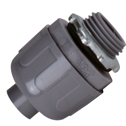 Sealproof® Gray Nonmetallic Liquid-Tight Straight Conduit Connectors