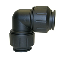 John Guest® Twist & Lock Black UV PEX Union Elbow