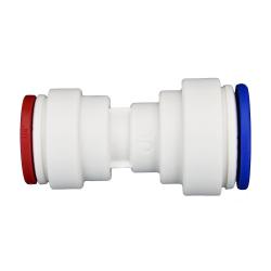 """5/16"""" Tube OD x 1/4"""" Tube OD Polypropylene Reducing Union Tube Fitting"""