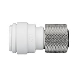 "1/4"" Tube OD x 9/16""-24 UNEF Polypropylene/Brass Female Connector"