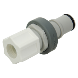 "1/2"" OD x 3/8"" ID In-line Ferruless Polypropylene Non-Spill Compression Insert (Body Sold Separately)"
