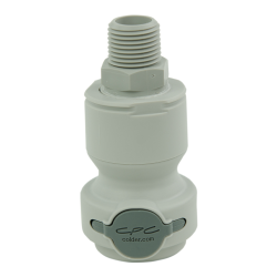 "1/2"" NPT Valved CPC™ Pipe Thread Non-Spill Coupling Body (Insert Sold Separately)"