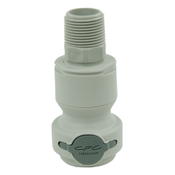 "3/4"" NPT Valved CPC™ Pipe Thread Non-Spill Coupling Body (Insert Sold Separately)"