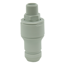 "1/2"" NPT Valved CPC™ Pipe Thread Non-Spill Coupling Insert (Body Sold Separately)"
