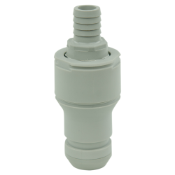 "1/2"" Hose Barb Valved In-line CPC™ Non-Spill Coupling Insert (Body Sold Separately)"