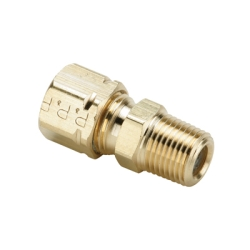 "1/8"" Tube x 1/8"" MPT Brass Compress-Align® Male Connector"