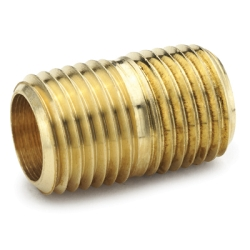 "3/8""MPT Brass Close Nipple"